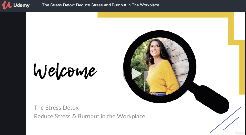 THE STRESS DETOX UDEMY COURSE